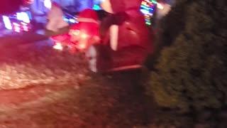 Popular Christmas light display with music
