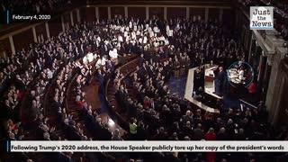 FLASHBACK: Pelosi rips up SOTU speech