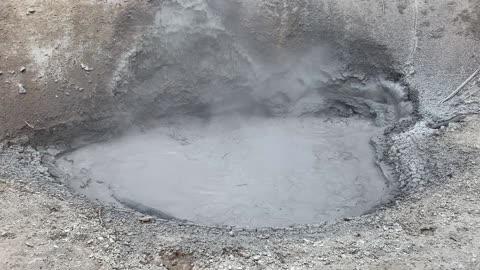 Boiling mud at Yellowstone