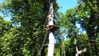 GoApe Adventure course at Creve Couer Lake in Missouri.