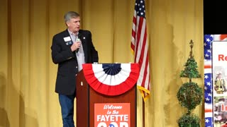 Senator Marty Harbin speaks at the Convention