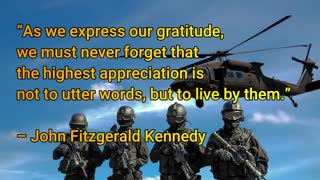 Thank you Veteran's!