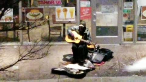 Playing The Guitar In Public