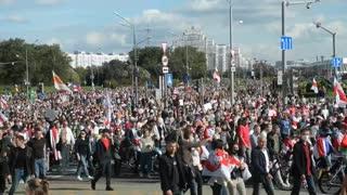Nueva protesta multitudinaria en Minsk