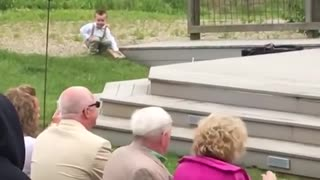Kids add some comedy to a wedding! - Ring Bearer(-_-)