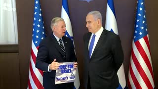 Sizing Him Up: Israel's PM Netanyahu met with US Senator Lindsey Graham in Jerusalem today.