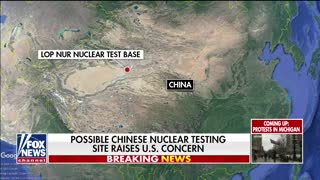 China conducting nuclear tests allegedly