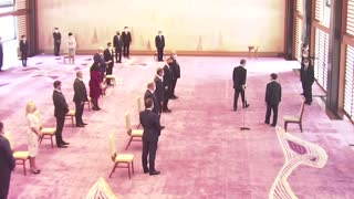 First Lady, world leaders meet Japanese Emperor