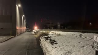 Night Rail Watching Rochester, NY Blossom Rd. 2/27/21