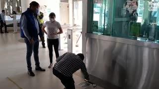 Alcalde de Bucaramanga verificó los protocolos de bioseguridad en estaciones de Metrolínea 2