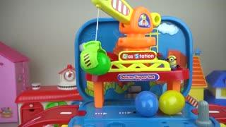 Dinosaur and cars toys