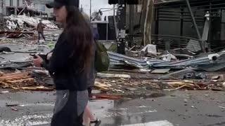 Footage of Destruction After Tornado in Nashville