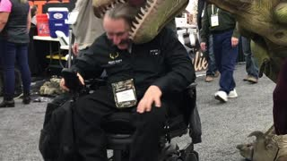 The Dinosaur at the ATA Trade Show