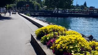 Luxury lake in Switzerland near france