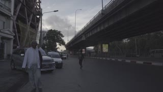 Man Calling Son On Phone Street Record Under Bridge