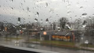 Amazing Window Rain Drip In Winter