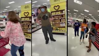 Karen of Walmart follows woman not Wearing a Mask