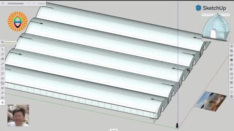 """簡潔的改建方案: 概述如何將""""對稱雙拱""""溫室大棚改建成""""獨陽屋頂""""大棚"""