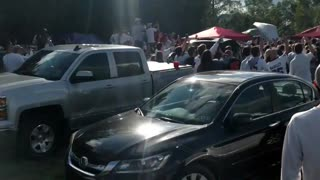 Helicopter Tries to Break up Tailgate Party