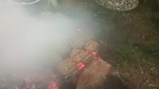 Barbeque with friends
