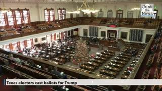 Texas electors cast ballots for Trump