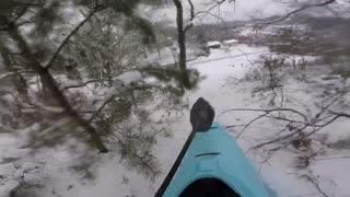 Kayak Sledding Down Huge Hill