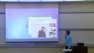 Math Professor Fixes Projector Screen (April Fools Prank) 2017 -2021