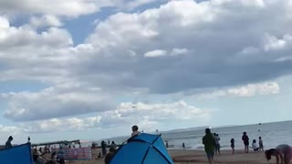 Aircrafts over the beach