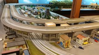 A large N scale model train layout in Japan