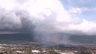 Lava destroys homes as volcano becomes explosive