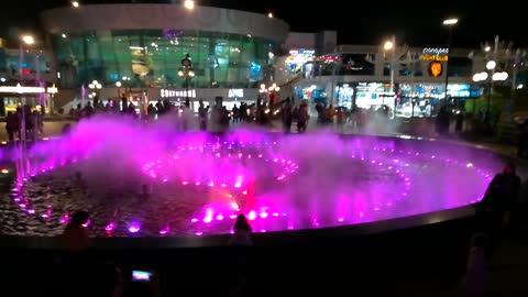 Purple Lightening Fountain In Sharm El Sheikh