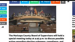 Maricopa County AZ Board of Supervisors to hold meeting today