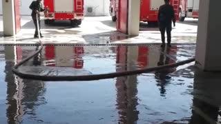 Regular weekday fire department