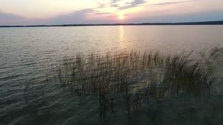 flight over the lake sundown 9