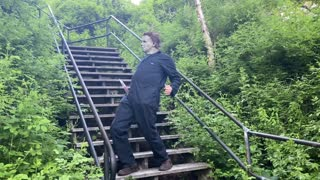 Michael Myers Does Stair Dance from The Joker