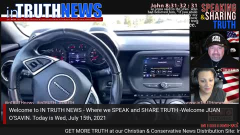 inTruthNews: Juan O'Savin - Catholic Church & Child Trafficking; Thurs, July 15th