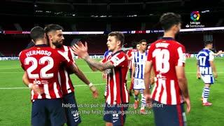 Atletico Madrid coach Simeone discusses defending their LaLiga title