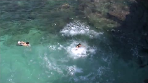 Backflip off cliff goes wrong