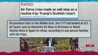 rachel maddow slams Trump and military