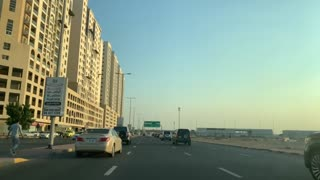 Scenes from Carrefour Street in the emirate of Ajman