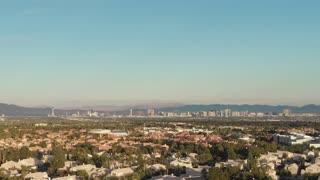 Las Vegas Skyline with view from the suburbs