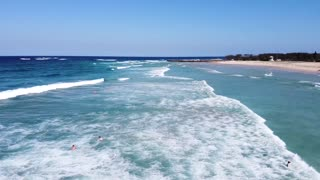 Free Footage Drone Video Beach view