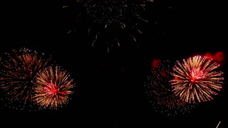 celebration event award party fireworks blooming background video