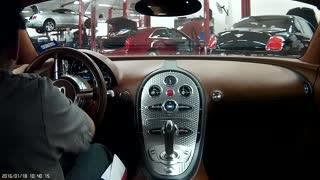 Test driving a Bugatti