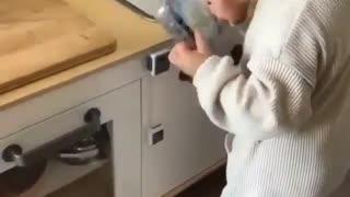 A house with a girl