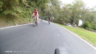 Cycling Group Near Miss with SUV