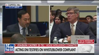 Castro questions acting DNI in whistleblower hearing