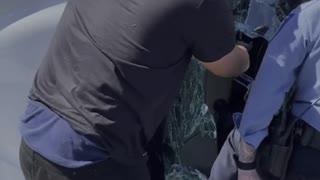 Good Samaritan Saves Woman From Overturned Truck