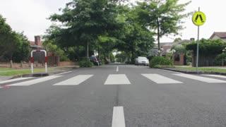 Roadway Record In Empty Street In My Neighborhood