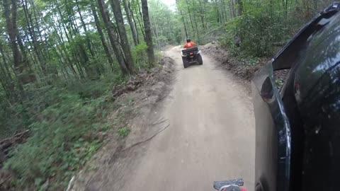 brown mountain trail ride